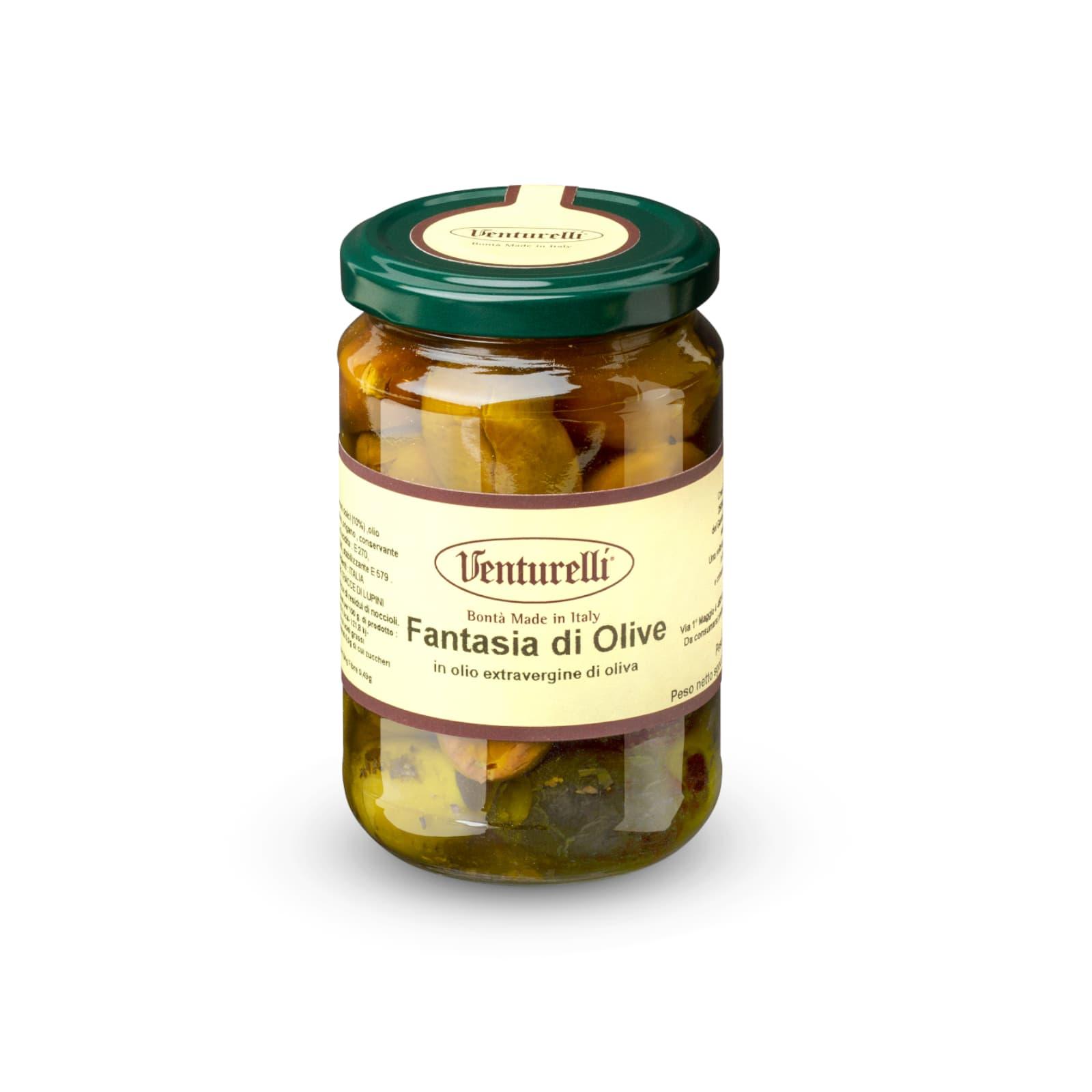 Fantasia di olive sott'olio